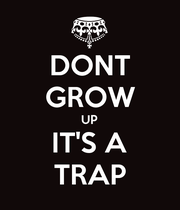 DONT GROW UP IT'S A TRAP - Personalised Poster large