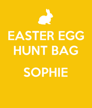 EASTER EGG HUNT BAG  SOPHIE  - Personalised Large Wall Decal