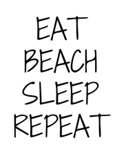 EAT BEACH SLEEP REPEAT - Personalised Large Wall Decal