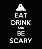 EAT DRINK AND BE SCARY - Personalised Large Wall Decal