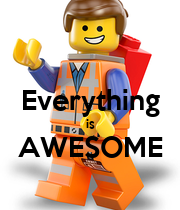 Everything is AWESOME  - Personalised Large Wall Decal