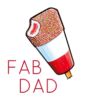 FAB     DAD - Personalised Poster large