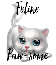 Feline   Paw-some - Personalised Poster large