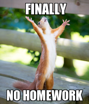 FINALLY        NO HOMEWORK - Personalised Poster large