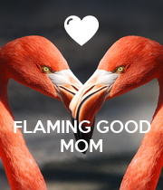 FLAMING GOOD MOM - Personalised Large Wall Decal