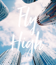 Fly High - Personalised Poster large