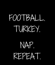 FOOTBALL. TURKEY.  NAP. REPEAT. - Personalised Large Wall Decal