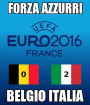 FORZA AZZURRI BELGIO ITALIA - Personalised Poster large