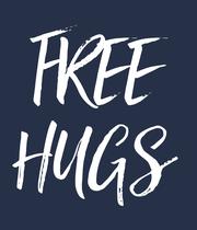 FREE HUGS - Personalised Poster large