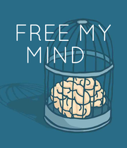 FREE MY MIND    - Personalised Poster large