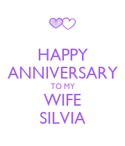 HAPPY ANNIVERSARY TO MY WIFE SILVIA - Personalised Poster large