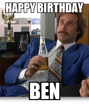 HAPPY BIRTHDAY BEN - Personalised Poster large