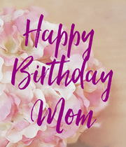 Happy  Birthday Mom - Personalised Large Wall Decal