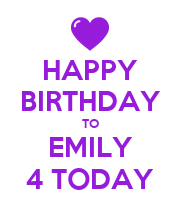 HAPPY BIRTHDAY TO EMILY 4 TODAY - Personalised Large Wall Decal