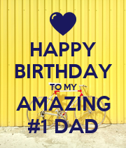 HAPPY BIRTHDAY TO MY AMAZING #1 DAD - Personalised Large Wall Decal