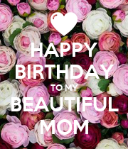 HAPPY BIRTHDAY TO MY BEAUTIFUL MOM - Personalised Large Wall Decal