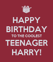HAPPY BIRTHDAY TO THE COOLEST TEENAGER HARRY! - Personalised Large Wall Decal