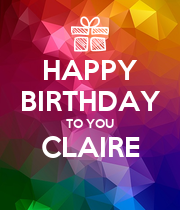 HAPPY BIRTHDAY TO YOU CLAIRE  - Personalised Large Wall Decal