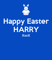 Happy Easter HARRY XxxX   - Personalised Poster large