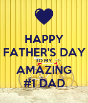 HAPPY FATHER'S DAY TO MY AMAZING #1 DAD - Personalised Large Wall Decal