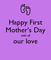 Happy First Mother's Day with all our love  - Personalised Large Wall Decal
