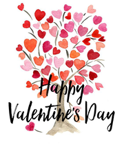 Happy Valentine's Day - Personalised Large Wall Decal