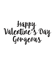 Happy  Valentine's Day Gorgeous - Personalised Poster large
