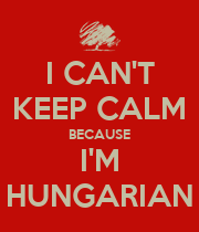 I CAN'T KEEP CALM BECAUSE I'M HUNGARIAN - Personalised Large Wall Decal