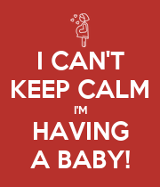I CAN'T KEEP CALM I'M HAVING A BABY! - Personalised Large Wall Decal
