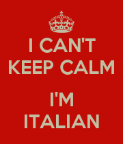 I CAN'T KEEP CALM  I'M ITALIAN - Personalised Large Wall Decal