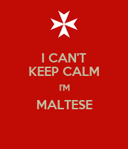 I CAN'T KEEP CALM I'M MALTESE  - Personalised Large Wall Decal