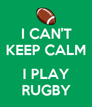 I CAN'T KEEP CALM  I PLAY RUGBY - Personalised Poster large