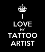 I LOVE MY TATTOO ARTIST - Personalised Poster large