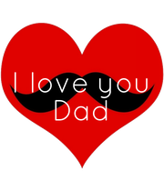 I love you Dad - Personalised Poster large