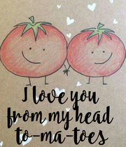 I love you  from my head  to-ma-toes - Personalised Large Wall Decal