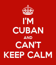 I'M CUBAN AND CAN'T KEEP CALM - Personalised Large Wall Decal