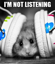 I'M NOT LISTENING  - Personalised Large Wall Decal