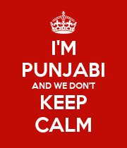 I'M PUNJABI AND WE DON'T KEEP CALM - Personalised Large Wall Decal