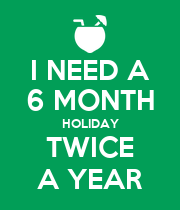 I NEED A 6 MONTH HOLIDAY TWICE A YEAR - Personalised Large Wall Decal