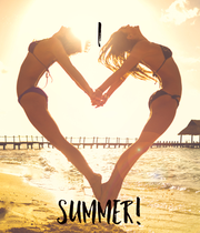 I     SUMMER! - Personalised Poster large