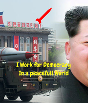 I Work for Democracy In a peacefull World - Personalised Poster large