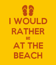 I WOULD RATHER BE AT THE BEACH - Personalised Large Wall Decal