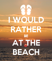 I WOULD RATHER BE AT THE BEACH - Personalised Poster large