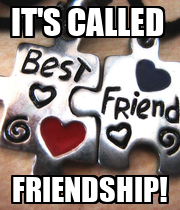 IT'S CALLED  FRIENDSHIP! - Personalised Poster large