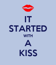 IT STARTED WITH A KISS - Personalised Poster large