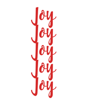Joy Joy Joy Joy Joy - Personalised Large Wall Decal