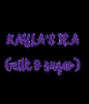 KAYLA'S TEA  (milk & sugar) - Personalised Poster large
