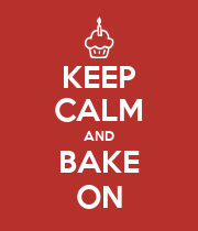 KEEP CALM AND BAKE ON - Personalised Large Wall Decal