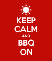 KEEP CALM AND BBQ ON - Personalised Poster large