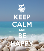 KEEP CALM AND BE HAPPY - Personalised Large Wall Decal